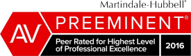 AV | Preeminent | Peer Rated for Highest Level | of Professional Excellence | 2016| Rod Rehm