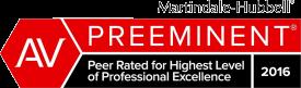 AV | Preeminent | Peer Rated for Highest Level | of Professional Excellence | 2016| Rod Rehm